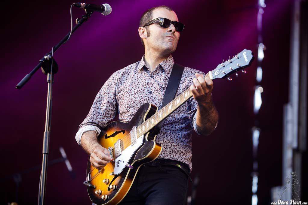 Angel Kaplan, cantante y guitarrista de Peralta (Andoaingo Rock jaialdia 2017)