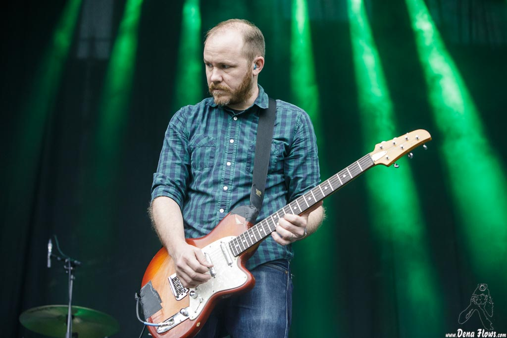 Michael James, guitarrista de Explosions in the Sky, Bilbao BBK Live 2017, Kobetamendi, Bilbao, 7/VII/2017