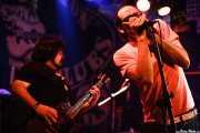 Armand Cardona -guitarra- y Robertez -armónica invitado- de Biscuit (Freakland Festival, Ponferrada)