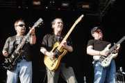 "Eric Bloom - guitarrista y cantante-, Allen Lanier -guitarrista- y Donald Brian ""Buck Dharma"" Roeser -guitarrista- de Blue Öyster Cult (14/07/2006)"