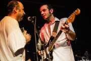 Artemio Pérez -baterista- y Josele Santiago -guitarrista y cantante-, de Los Enemigos, Sala Albéniz, 2006