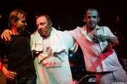 Fino Oyonarte -bajista-, Artemio Pérez -baterista- y Josele Santiago -guitarrista y cantante- de Los Enemigos, Sala Albéniz, 2006