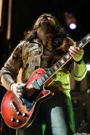 Álvaro Bárcena, guitarrista y cantante de Amon Ra, Grande Rock Festival, Jaraiz de la Vera. 2006