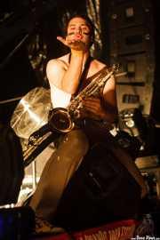 Nacho, saxofonista de Los Chicos (Grande Rock Festival, Jaraiz de la Vera, 2006)