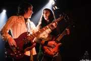 Tod Bowers -bajista- y Asier Fernández -guitarrista invitado- de The Steepwater Band (Sala Azkena, Bilbao, 2006)