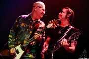 Dave Catching -guitarra- y Jesse Hughes voz y guitarra- de The Eagles of Death Metal, Kafe Antzokia, Bilbao. 2007