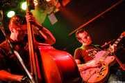 Ivan Kovacevic -contrabajo- y Mario Cobo -guitarra y voz- de The Nu Niles, Freakland Festival, Ponferrada. 2007