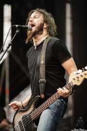 Troy Sanders, bajista y cantante de Mastodon, Bilbao BBK Live, Bilbao. 2007