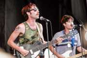 Jared Swilley -bajista y cantante- y Cole Alexander -guitarrista y cantante- de The Black Lips