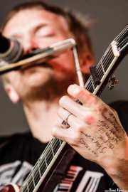 Setlist en la mano de Adam Stephens, cantante, guitarrista y armonicista de Two Gallants, Azkena Rock Festival, Vitoria-Gasteiz. 2007