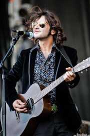 Quique González, cantante y guitarrista de Quique González y la Aristocracia del Barrio (Azkena Rock Festival, , 2007)