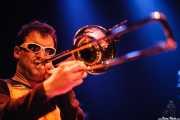 Garikoitz Badiola Urkiza, trombonista de Mamba Beat, Bilborock, Bilbao. 2008