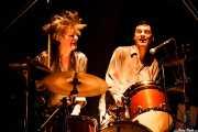Bill Milhizer -batería- y Peter Zaremba -voz, teclado y armónica- de The Fleshtones (, , 2008)