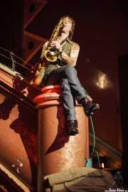 "Matts ""Magic"" Gunnarsson, saxofonista de Diamond Dogs (Kafe Antzokia, Bilbao, 2009)"