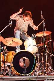 Kurtis Smith, baterista de The Brew (Kafe Antzokia, Bilbao, 2009)