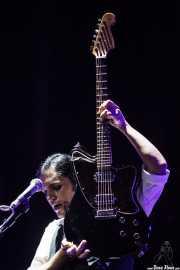 Brian Molko, cantante y guitarrista de Placebo, Bilbao BBK Live. 2009