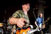 """Deke Dickerson -guitarra y voz- y Steve """"King of Men"""" Mace -bajo- de Untamed Youth, Hotel Casa Fuster, Barcelona. 2010"""