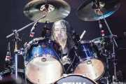 Ryan O'Keeffe, baterista de Airbourne (Azkena Rock Festival, Vitoria-Gasteiz, 2010)