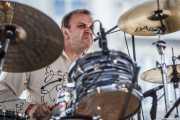 Steve Rushton, baterista de Imelda May, Azkena Rock Festival. 2010