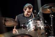 Thomas Eriksson, baterista de Imperial State Electric (Azkena Rock Festival, Vitoria-Gasteiz, 2010)