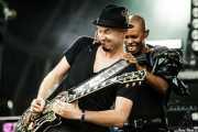 """Martin """"Ace"""" Kent -guitarra- y Skin -voz- de Skunk Anansie (Bilbao BBK Live, Bilbao, 2010)"""