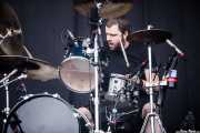 Brandon Barnes, baterista de Rise Against, Bilbao BBK Live, Bilbao. 2010