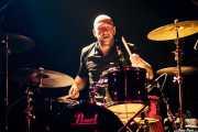 Carlos Mirat, baterista de Vinila von Bismark & The Lucky Dados, Kafe Antzokia. 2010