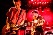Rupert Orton -guitarra-, Gavin Jay -bajo- y Nick Jones -batería- de The Jim Jones Revue (Le Poisson Rouge, Nueva York, 2010)
