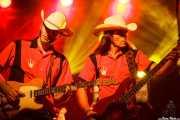 David Krahe -guitarra- y Javi Vacas -bajo- de Los Coronas, Turborock, Sarón. 2010