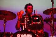 Natxo Beltrán,baterista de Atom Rhumba (Santana 27, Bilbao, 2011)