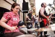 """Antonio """"Greasy"""" -voz y guitarra- y Maria """"Grizzly"""" -batería- de Greasy & Grizzly"""