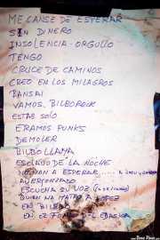 Setlist de Toni Metralla y los Covernícolas, Sala Edaska, Barakaldo. 2011