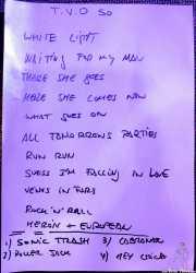 Setlist de Sonic Trash, Sala Cúpula (Teatro Campos Elíseos), Bilbao. 2011