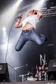 Eric Davidson -voz- y  Sam Brown -batería- de New Bomb Turks (Azkena Rock Festival, Vitoria-Gasteiz, 2011)