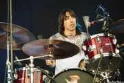 "David ""El Índio"", baterista de Vetusta Morla, Bilbao BBK Live, 2011"