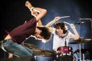 """Pucho -cantante- y David """"El Índio"""" -baterista-, de Vetusta Morla, Bilbao BBK Live, 2011"""