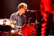 Alex Hall, baterista de JD McPherson, Kafe Antzokia, Bilbao. 2011