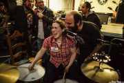 "Maria ""Grizzly"", baterista de Greasy & Grizzly (Barreiro Rocks, Barreiro, 2011)"