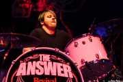 James Heatley, baterista de The Answer, Kafe Antzokia, Bilbao. 2012