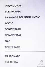 Setlist de Sonic Trash, Kafe Antzokia, Bilbao. 2012
