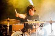 Edu Ugarte, baterista de Muy Fellini, Bilbao. 2012