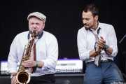 Dan Faulkner -saxofonista- y Si Cranstoun -cantante y guitarrista- (14/06/2012)