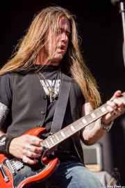 Pontus Snibb, guitarrista y cantante de Pontus Snibb 3, Azkena Rock Festival, 2012