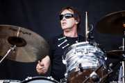 Warwick Fraser, baterista de The Screaming Tribesmen, Azkena Rock Festival, 2012