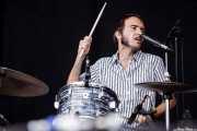 "Roberto Lozano ""Loza"", baterista de Corizonas, Bilbao BBK Live, Bilbao. 2012"