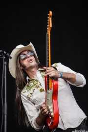 Fernando Pardo, guitarrista de Corizonas, Bilbao BBK Live, Bilbao. 2012