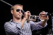 Yevhen Riechkalov, trompetista de Corizonas, Bilbao BBK Live, Bilbao. 2012