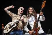 David Krahe -guitarra- y Javi Vacas -bajo y contrabajo- de Corizonas, Bilbao BBK Live, Bilbao. 2012