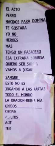 Setlist de Ana Curra presenta El Acto (Kafe Antzokia, Bilbao, 2012)