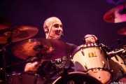 """Chema """"Animal"""" Pérez, baterista de Los Enemigos, Pabellón de La Casilla, 2012"""
